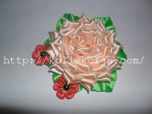Как сделать розу из атласной ленты
