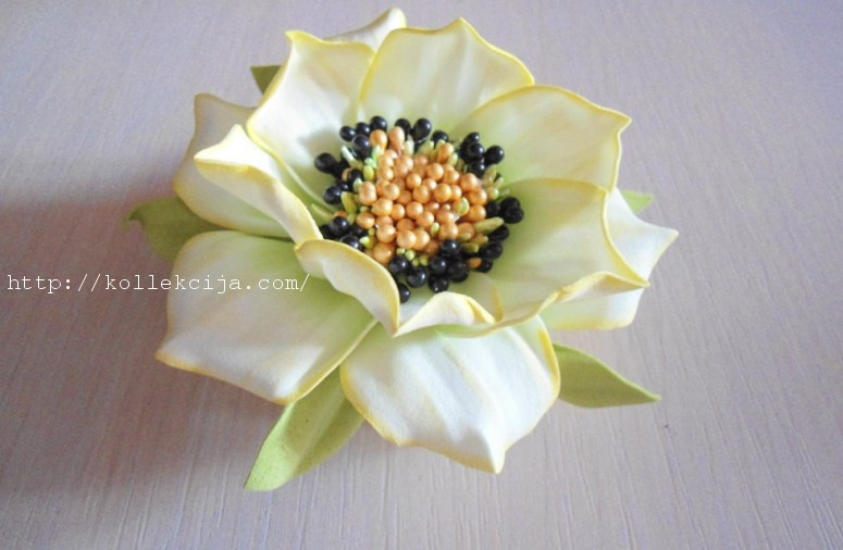 Цветок из фоамирана мастер-класс