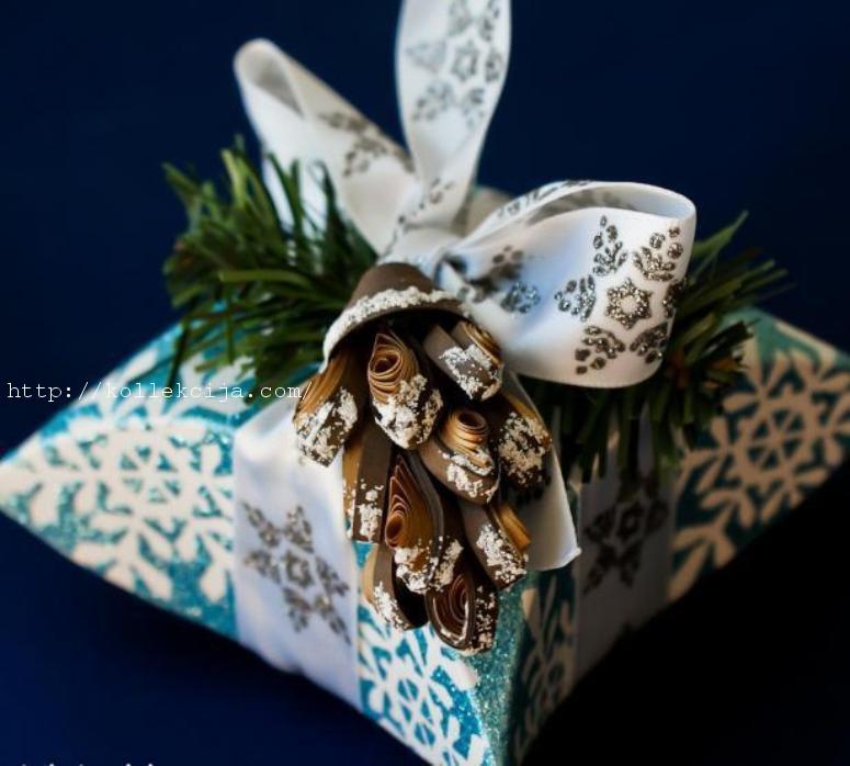 Новогодняя упаковка для подарка