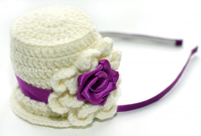 Вязаная шляпка крючком