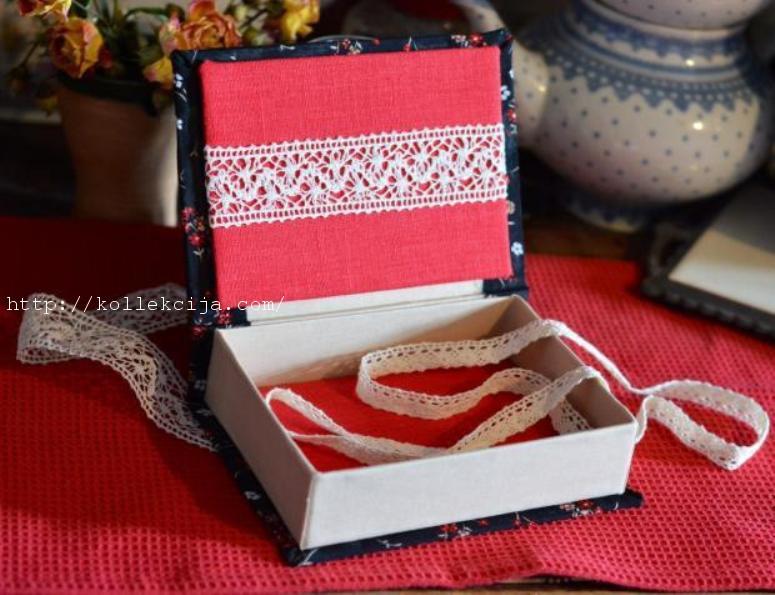 Шкатулка из картона и ткани своими руками мастер-класс