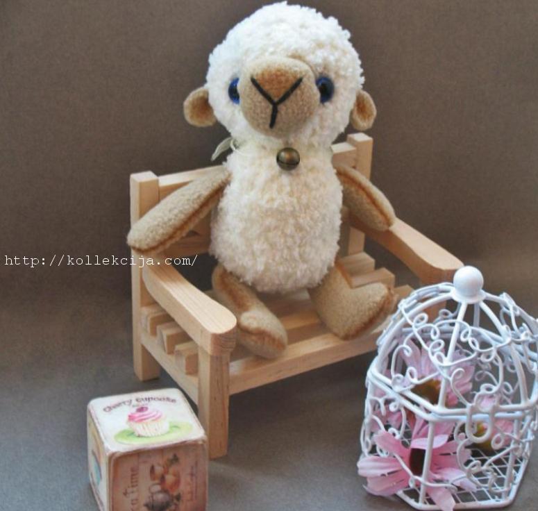 Вязаная овечка крючком