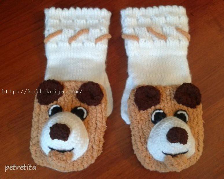 Детские перчатки-варежки