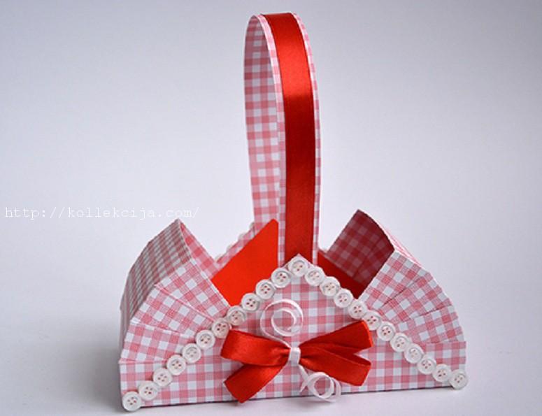 Бумажная корзинка своими руками