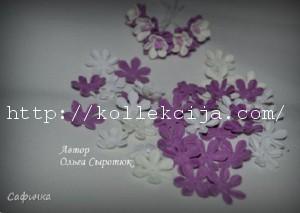 маленький цветок из фоамирана 14