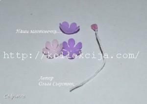 маленький цветок из фоамирана 24
