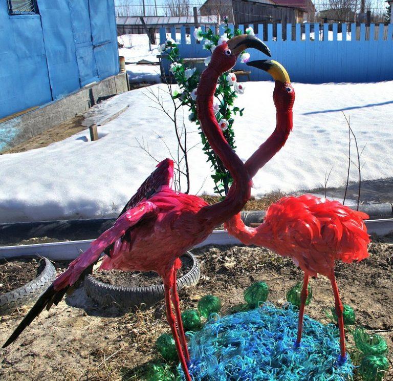 фламинго из полторашек своими руками фото думал, что