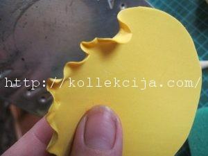 Целозия гребенчатая из фоамирана